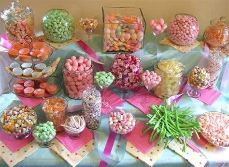 pink and green theme candy buffet graduation ideas 2013