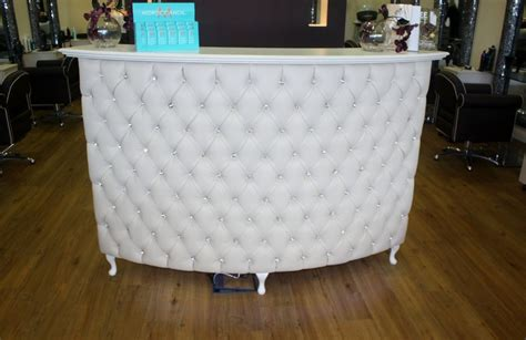 Padded Reception Desk Large Curved Reception Desk Retail Desk With Padded Front Ebay
