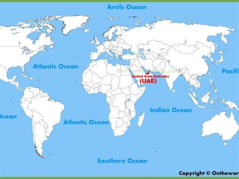 abu dhabi on world map uae on world map world maps