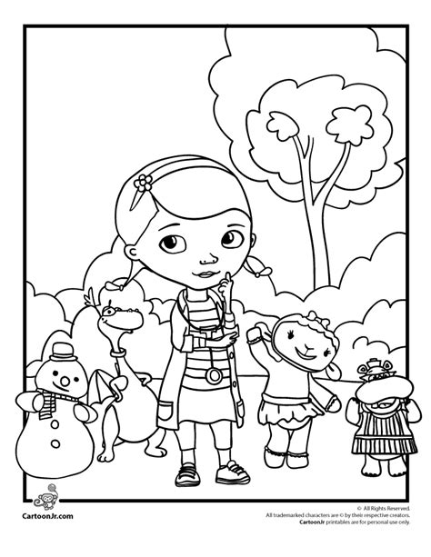 free coloring pages doc mcstuffins lambie