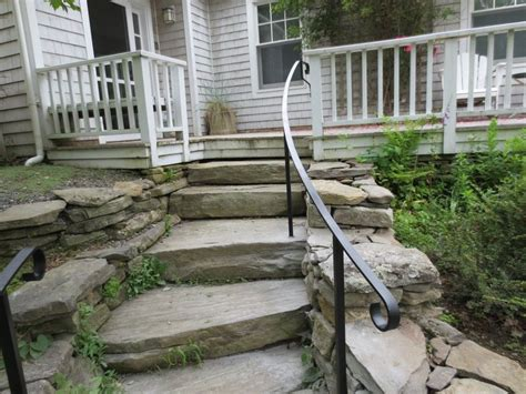 Handrails For Outdoor Steps Uk Exterior Wrought Iron Stair Railings Personalized Shapes