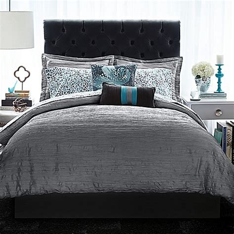 christian siriano relaxed crinkle comforter set bed bath