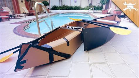 how to make a paper cardboard boat building 20 cardboard boats youtube