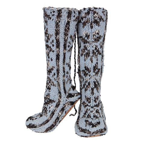 mukluk slipper socks wool blend mukluks with leather sole slipper socks ebay