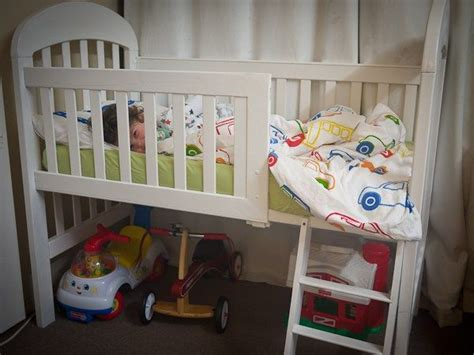 Crib Transforms Into Bed Best 20 Bunk Bed Crib Ideas On Pinterest Toddler Bunk Beds Brothers Room And Four