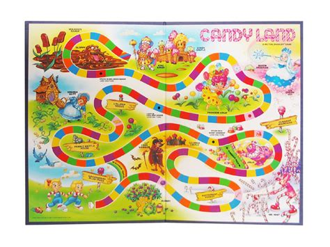 6 best images of free printable board game candyland