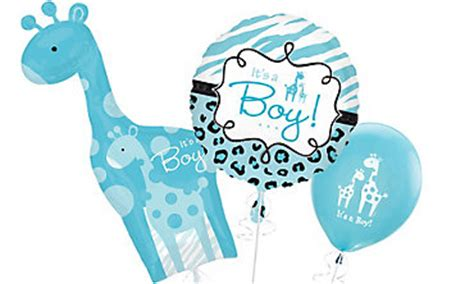 city balloons baby shower baby boy balloons favors ideas