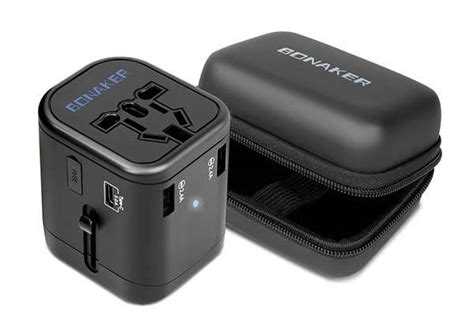 Unique Adapter Universal Travel With Usb Slide Me V2 Baru Charger bonaker universal travel adapter with usb c usb ports and qc3 0 fast charging gadgetsin