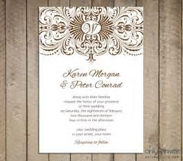 Free printable wedding invitations templates best template