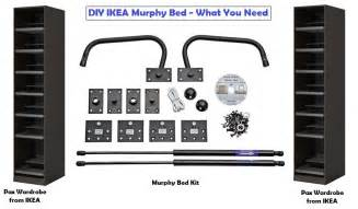 Murphy Bed Build Kit Diy Murphy Bed Ikea Hack Kit Plans Free