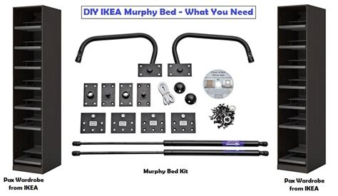 diy murphy bed ikea hack kit plans free