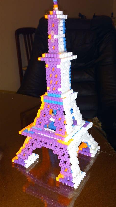 3d perler bead creations torre eiffel 3d 2 personal hama 3d