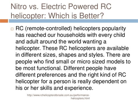 z which is better nitro vs electric powered rc helicopter which is better