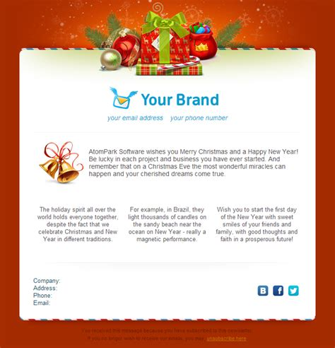 christmas email templates for free 2014 from atompark