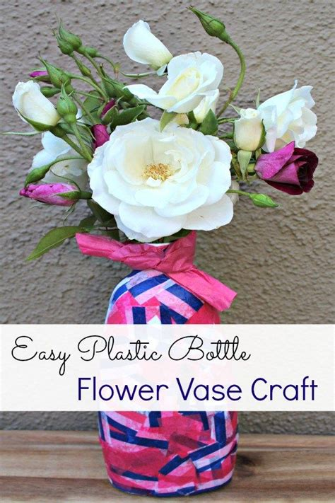 Tissue Paper Flowers In Vase by How To Make A Recyclable Plastic Bottle Flower Vase