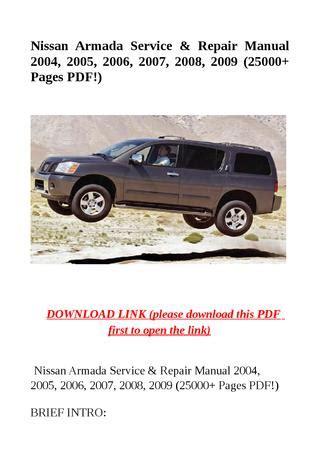 2006 2007 nissan armada service repair manual nissan armada service repair manual 2004 2005 2006 2007 2008 2009 25000 pages pdf by