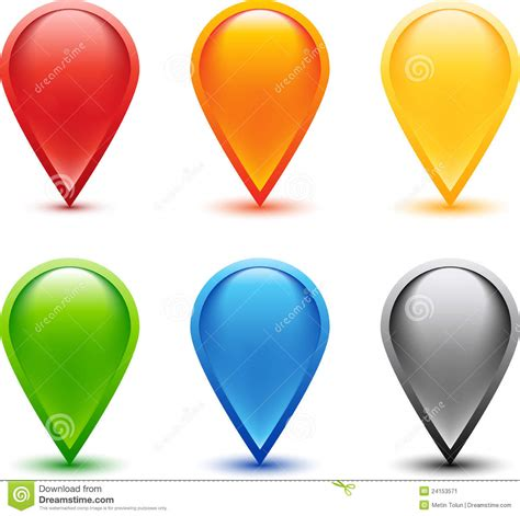 Pinset Set colored pin set stock image image 24153571