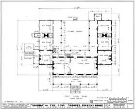 Architect House Plans File Umbria Plantation Architectural Plan Of Main Floor