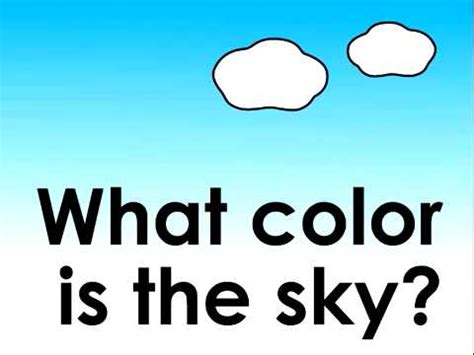 what is the color of the sky what color is the sky children s song