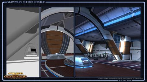 star wars interior design where do star wars the old republic starships come from