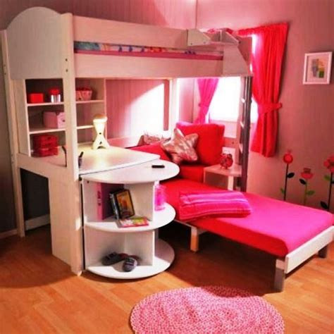 girls bunk bed with desk pinterest the world s catalog of ideas