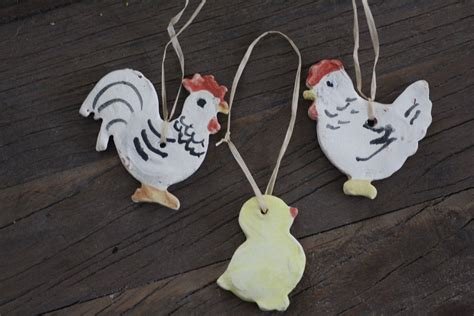 Handmade Ceramic Decorations - handmade ceramic decoration type3 family cotswold chickens