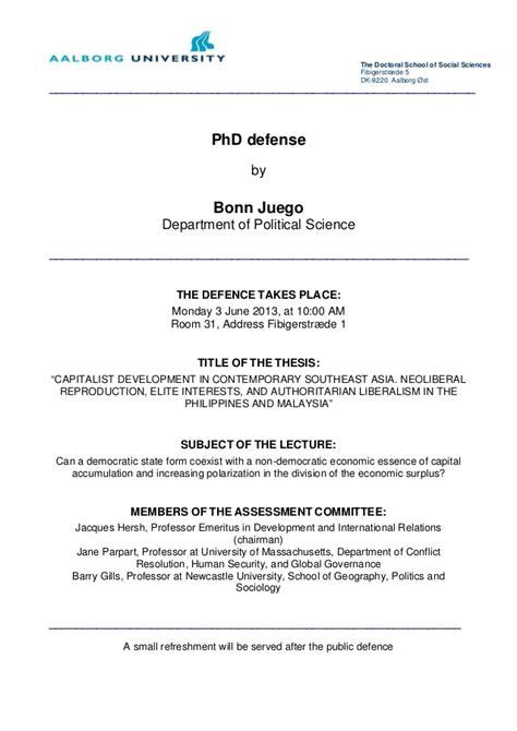 thesis defense invitation letter invitation bonn juego phd defence