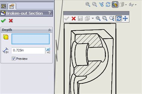 broken out section solidworks broken out section view 28 images section view