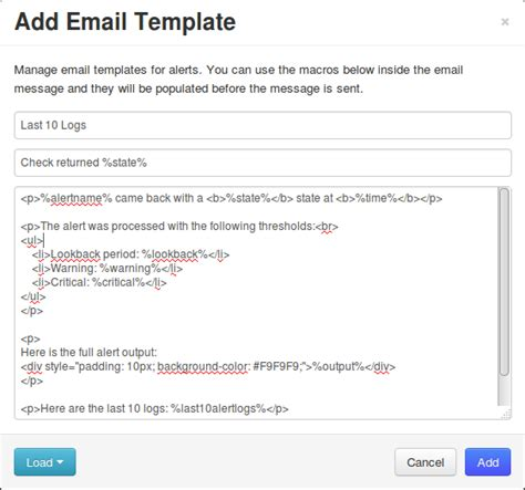 email template php nagios log server custom alert message email template