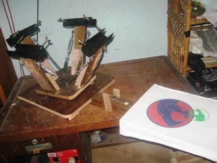 meja sablon rotary kayu jual meja sablon frame