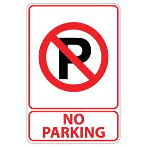 no parking signs home depot lynch sign 12 in x 18 in blue on white aluminum