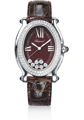 Chopard Ch7020 Oval Leather chopard happy sport oval steel and white gold watches