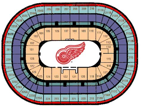 joe louis arena seat map joe louis arena seating chart quotes