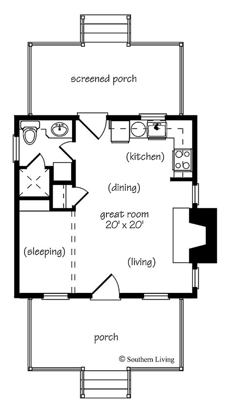 One Bedroom Cottage Floor Plans | 301 moved permanently