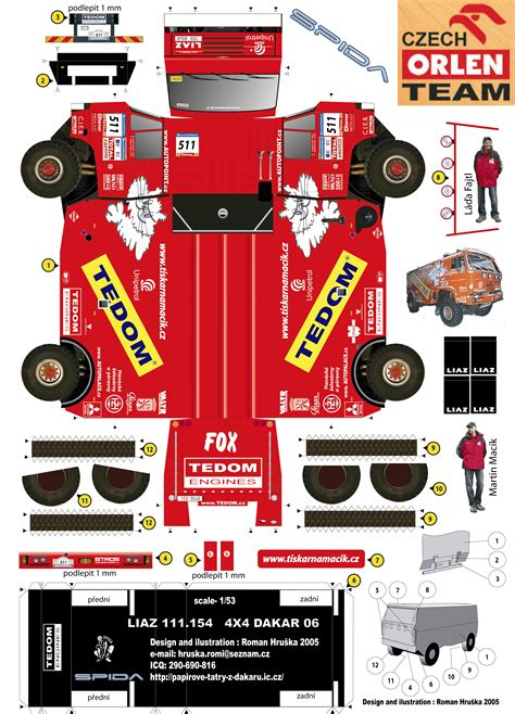 Papercraft Model Free - new paper craft dakar 2006 martin mac 237 k s liaz truck