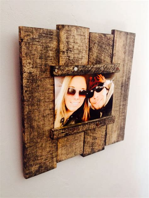 Poster Wall The Shimeson Wood Frame items similar to reclaimed wood pallet picture frame on etsy