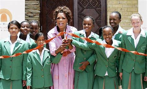 Oprah Opens Second School In Africa by Oprah Disheartened By School Ny Daily News