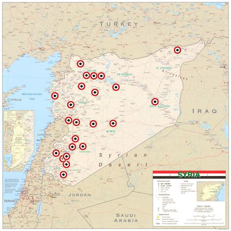 map of air bases in syria airfields