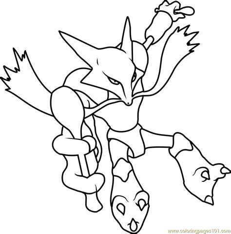 pokemon coloring pages of absol pokemon mega alakazam card images pokemon images