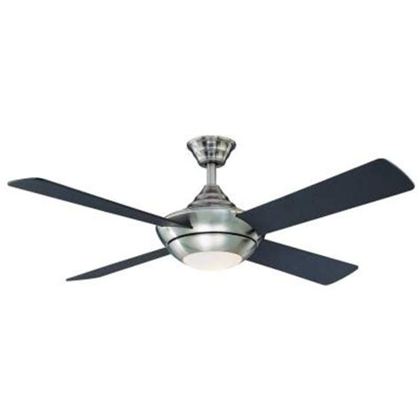 hton bay moonlight 52 in brushed nickel ceiling fan