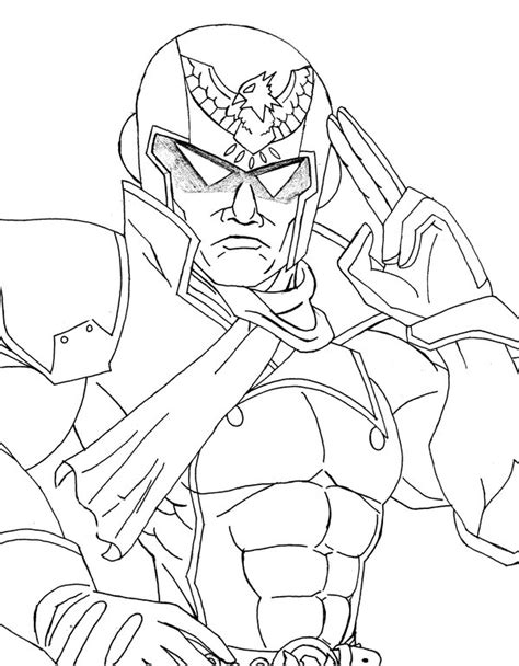 Captain Falcon Coloring Pages Free