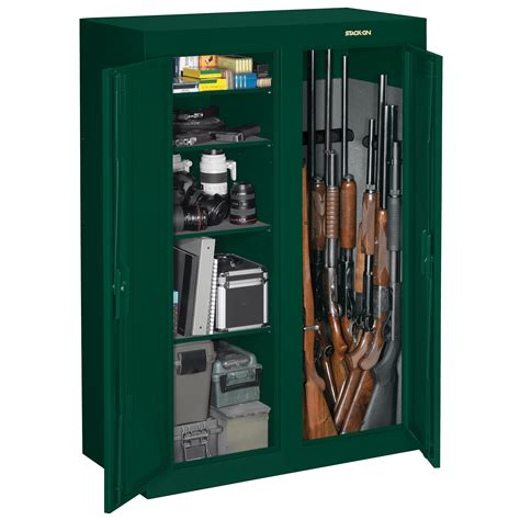 stack on door gun cabinet 16 or 31 gun door security cabinet