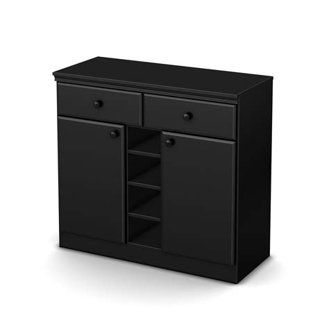 Black Pantry Cabinet South Shore Narrow Storage Cabinet