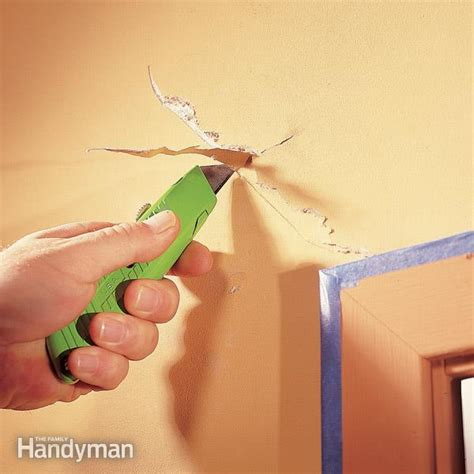 best way to cover cracks in ceiling how to repair a drywall the family handyman