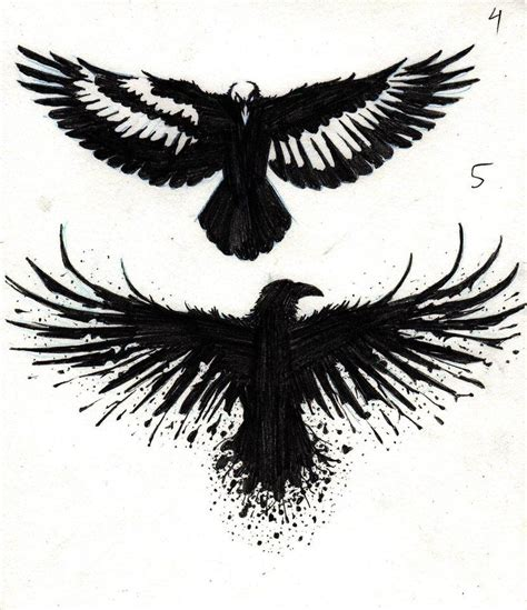 the crow tattoos pin by kavetsly on ideas