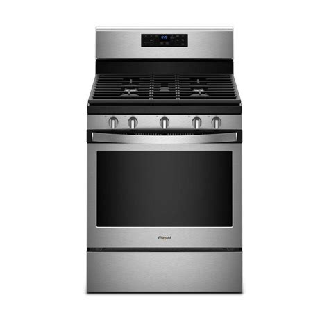 Lu Gas Proof shop whirlpool 5 burner freestanding 5 cu ft self cleaning gas range fingerprint resistant