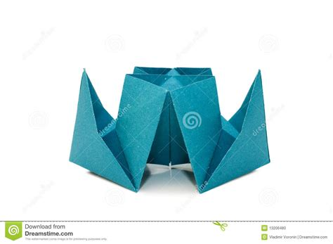 Ship Origami - origami ship isolated white stock photo image 13206480