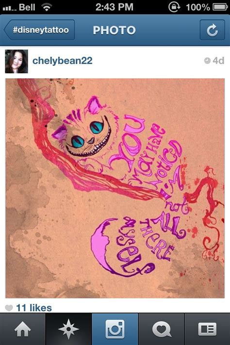 chesire cat tattoo chesire cat we re all mad here colour in