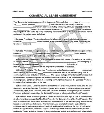 commercial building lease template commercial lease agreement templates
