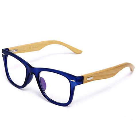 Handmade Spectacles - handmade bamboo glasses frame clear lens for